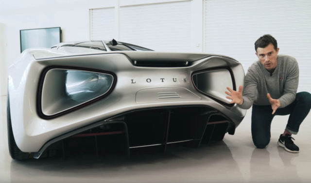 Lotus Evija EV 2000hp in a video