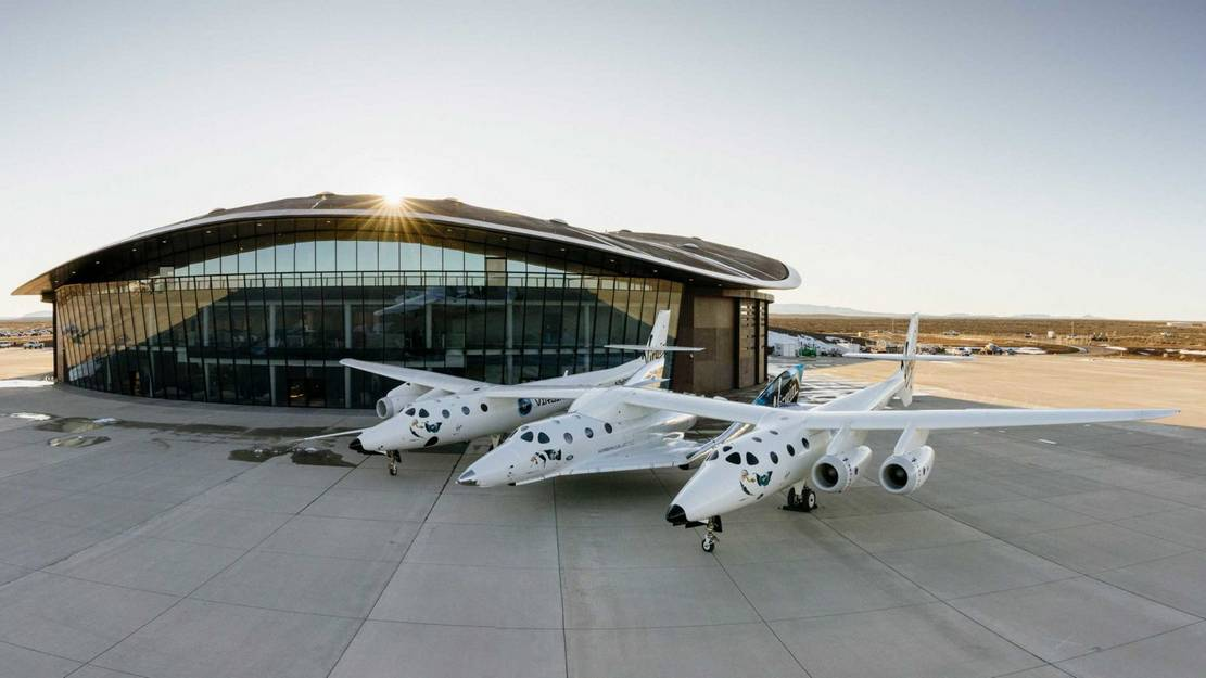 Virgin Galactic's spaceplane to its new home