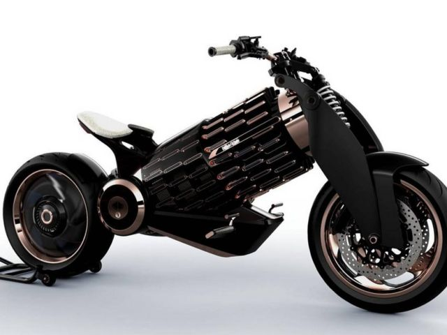 Newron Motors curved wooden electric Motorcycle (6)