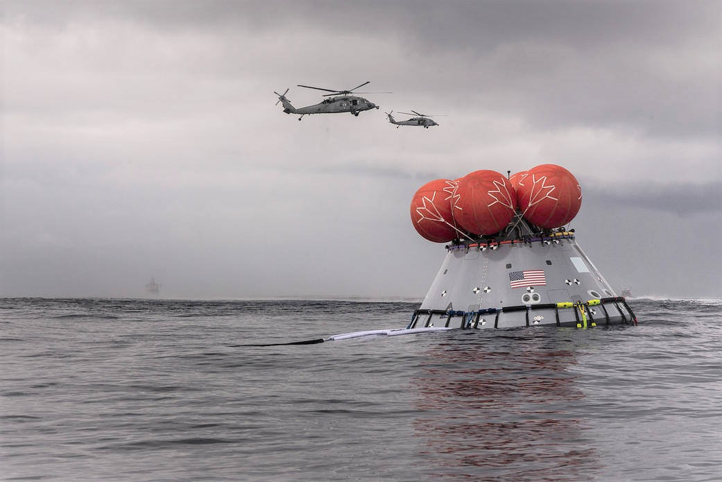 Orion test Capsule Recovered in the Pacific Ocean