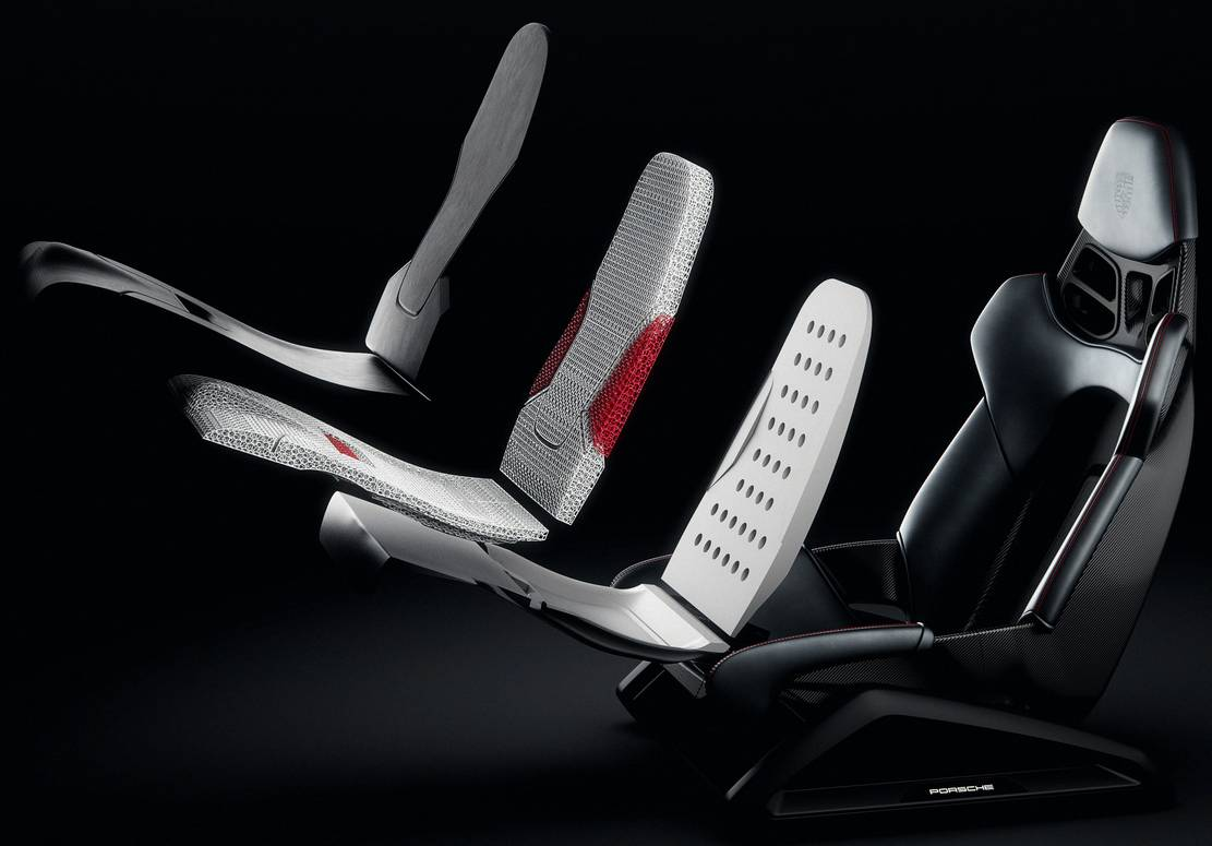Porsche 3D-printed bucket Seats (4)