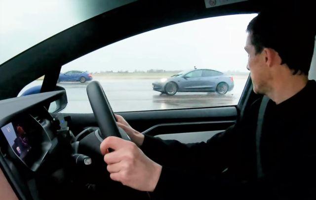 Tesla Performance Drag Race