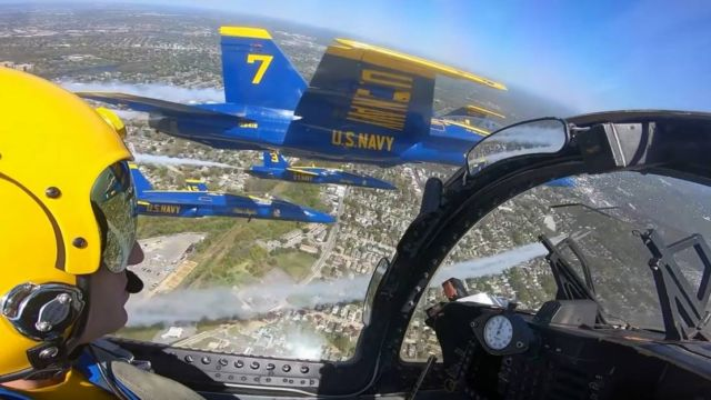 Blue Angels and Thunderbirds Flyover above New York City
