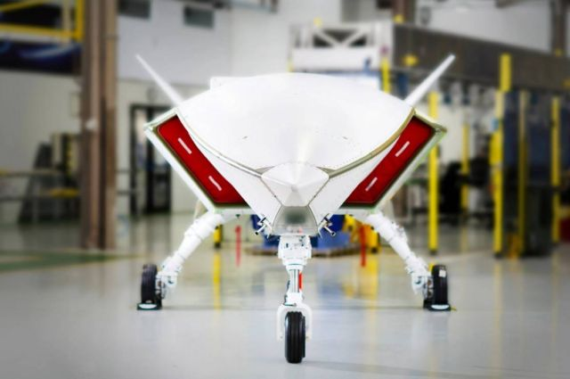 Boeing's Loyal Wingman aircraft power on