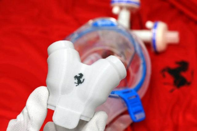 Ferrari 3D prints parts for Coronavirus protection kits