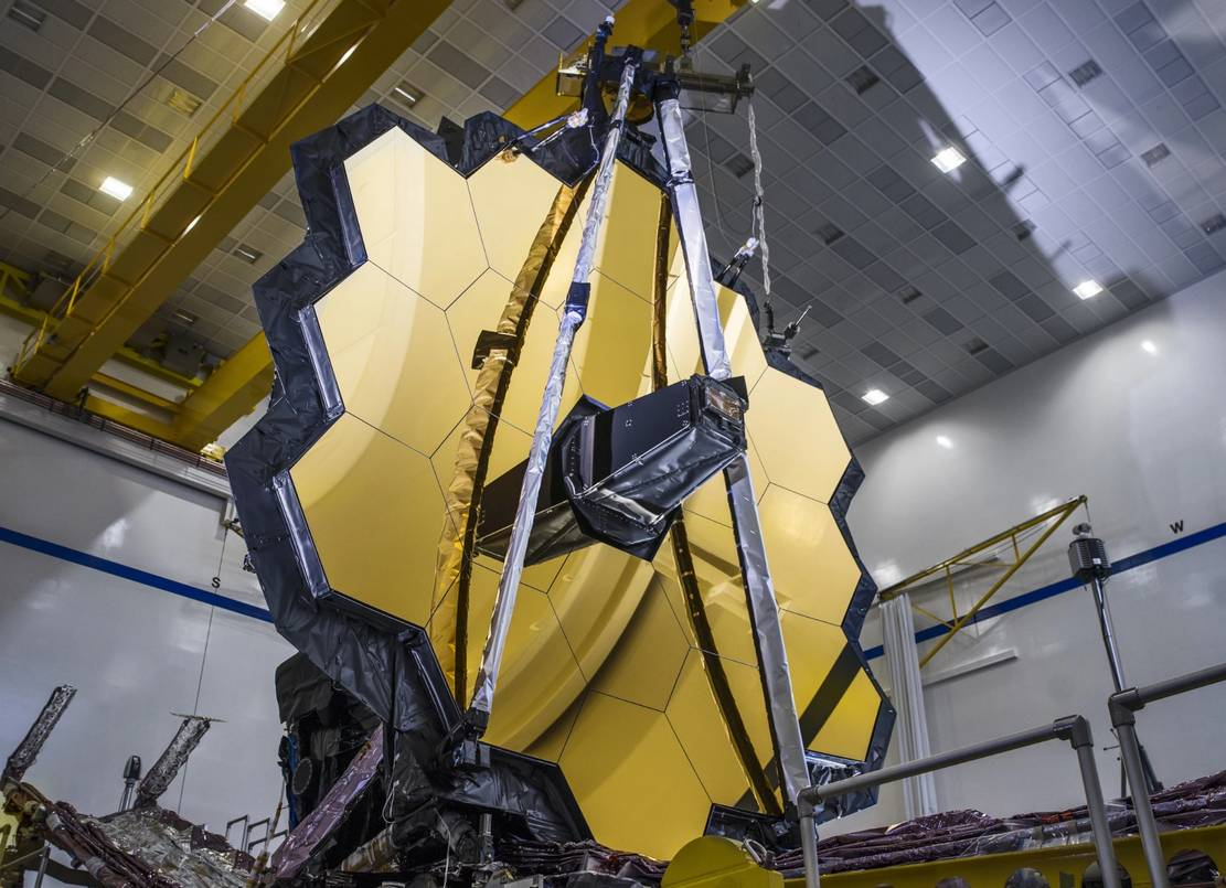 James Webb Space Telescope Full Mirror Deployment