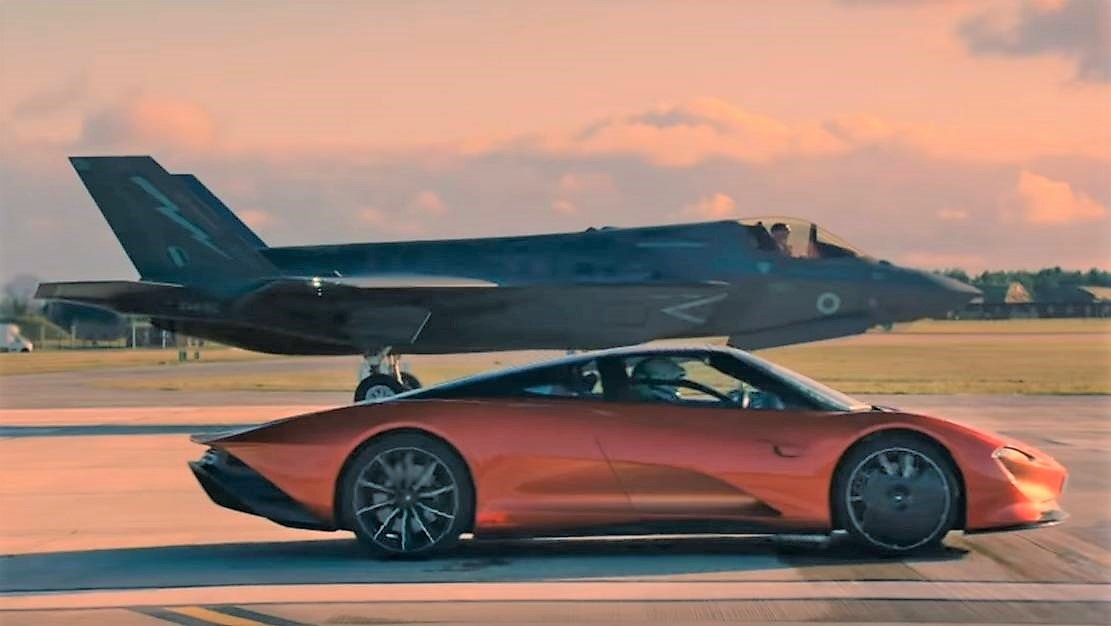 McLaren Speedtail vs F35 Fighter Jet