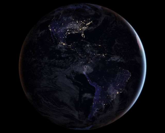 Our Planet in Brilliant Darkness
