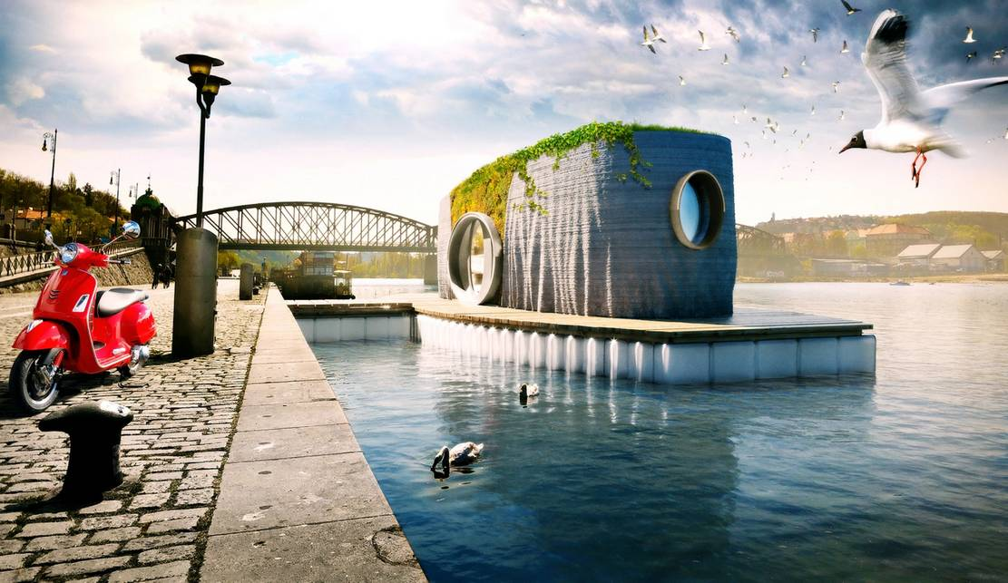 3D-printed Floating House will be built in 48 hours