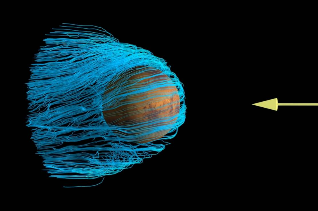 First Maps of Electric Currents around Mars that are Fundamental to Atmospheric Loss