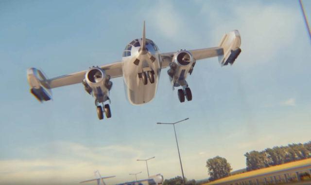 Germany's insane Hover Jet Transport