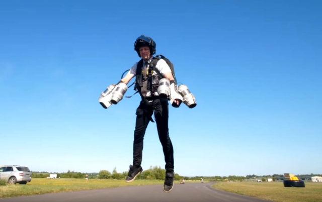 Jet Suit Hoverboarding