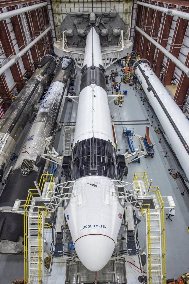 SpaceX Falcon 9 rocket with Crew Dragon capsule