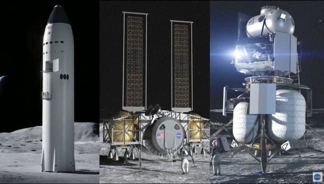 NASA selects Human Landing Systems for the Artemis program