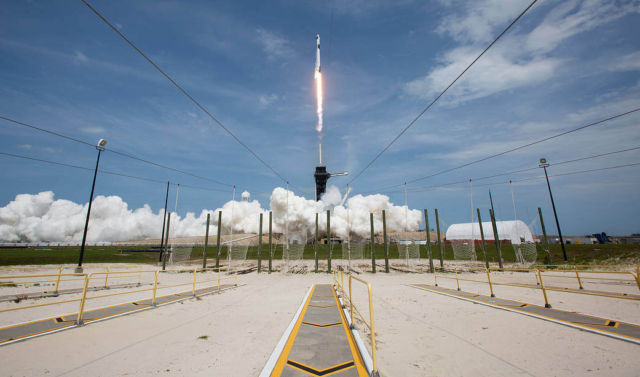 SpaceX's historic launch with 2 American astronauts succeeds