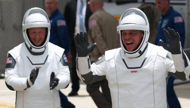 NASA astronauts Doug Hurley and Bob Behnken