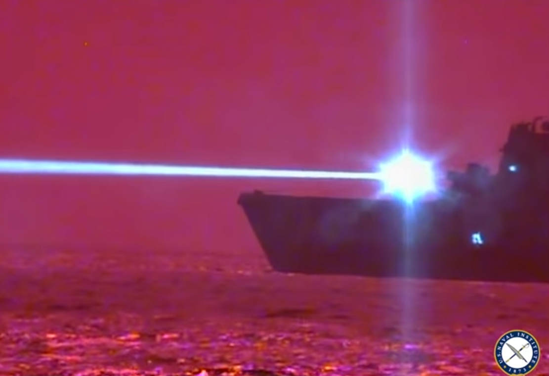 US Navy disabled Drone with Laser