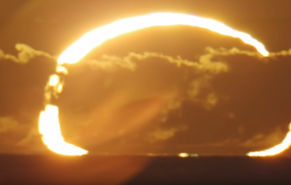 A Ring of Fire Sunrise Solar Eclipse