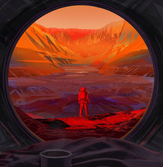 Astronaut on the Red Planet