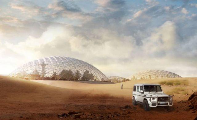 Martian City for the Desert near Dubai
