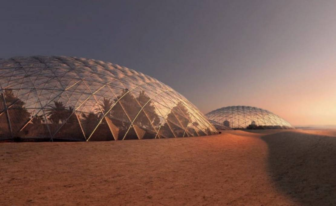 Martian City for the Desert near Dubai