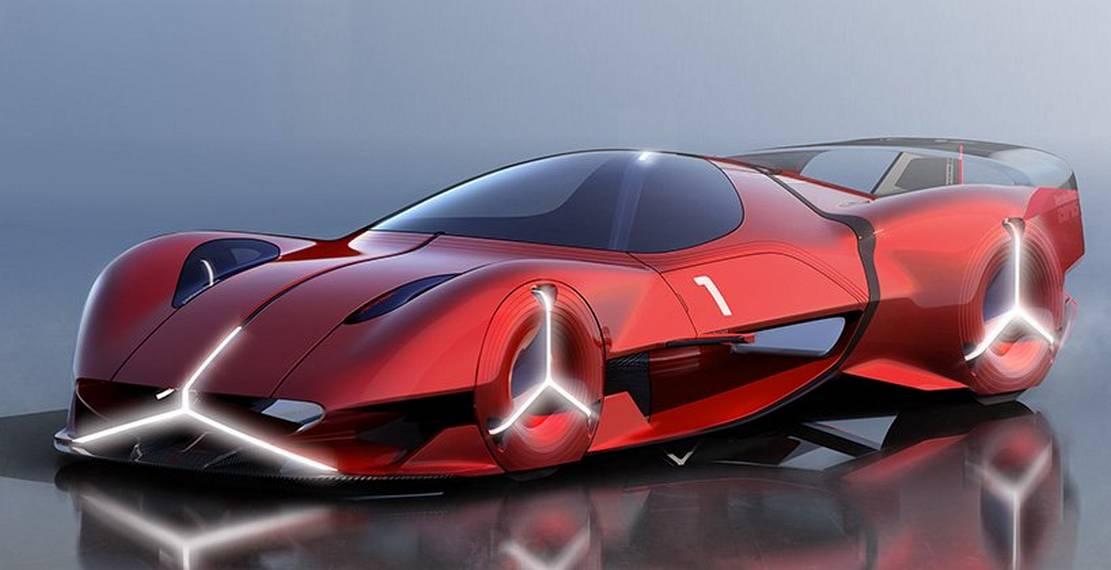 Mercedes-Benz Red Sun hypercar concept (10)