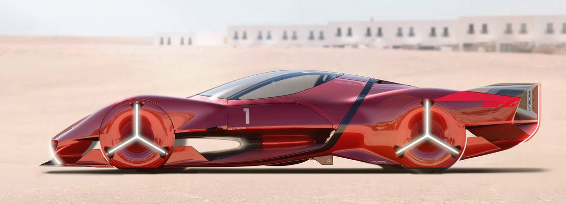 Mercedes-Benz Red Sun hypercar concept (1)