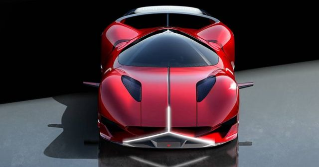 Mercedes-Benz Red Sun hypercar concept (8)