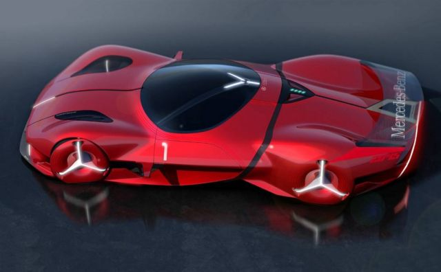 Mercedes-Benz Red Sun hypercar concept (7)