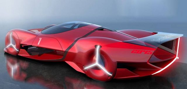 Mercedes-Benz Red Sun hypercar concept (6)