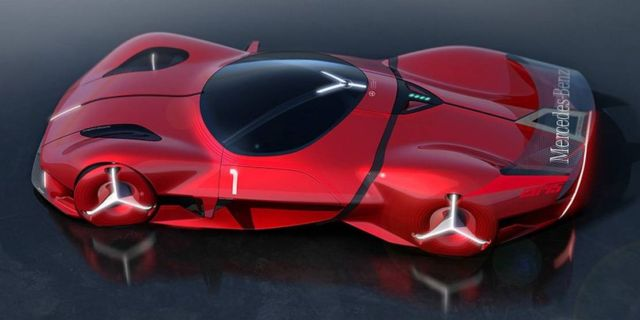 Mercedes-Benz Red Sun hypercar concept (5)