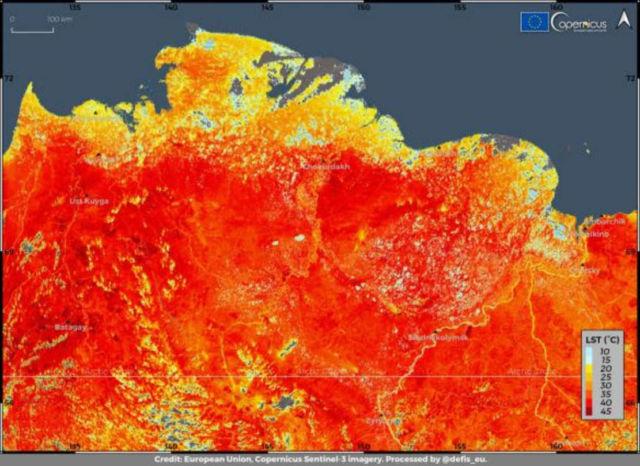 New record of 38°C North of Circle