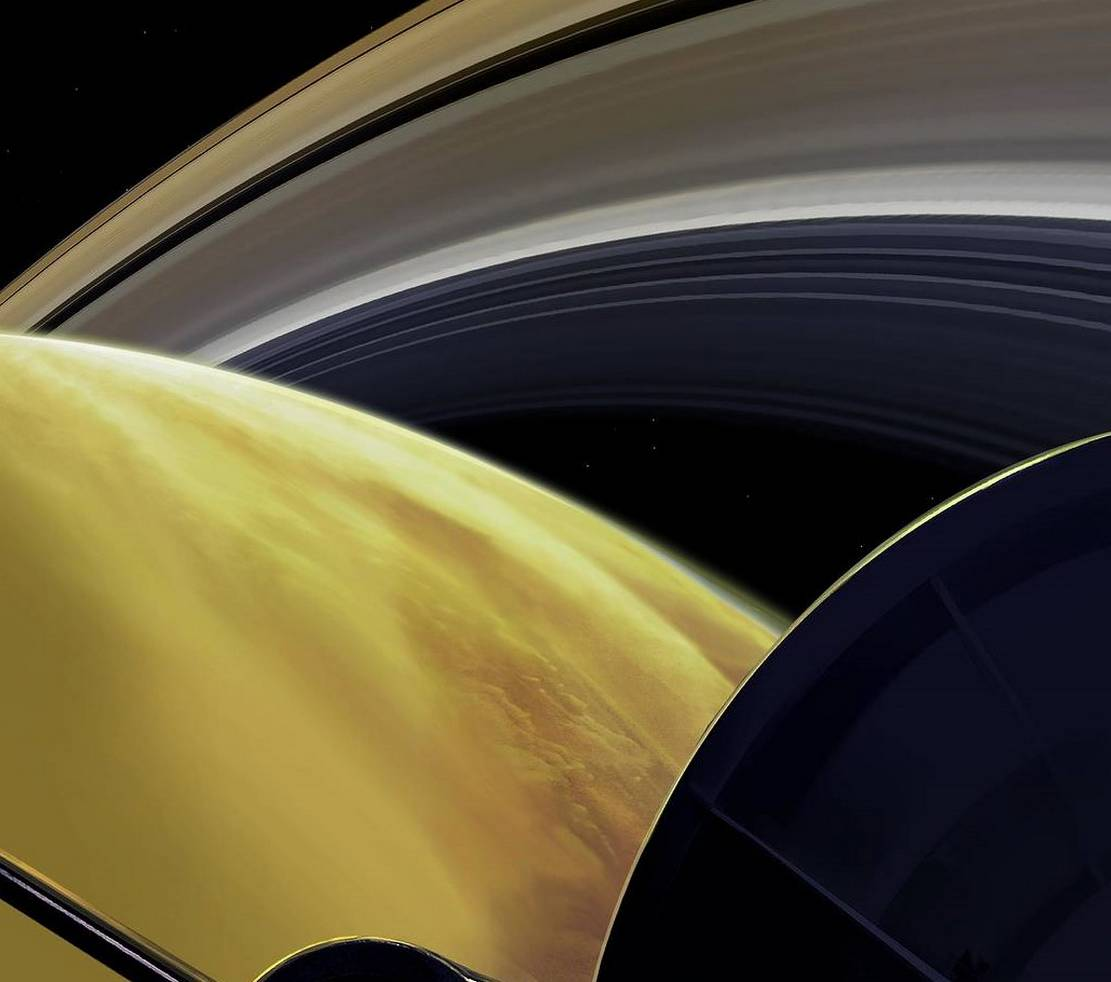 One of Cassini's Last Dives
