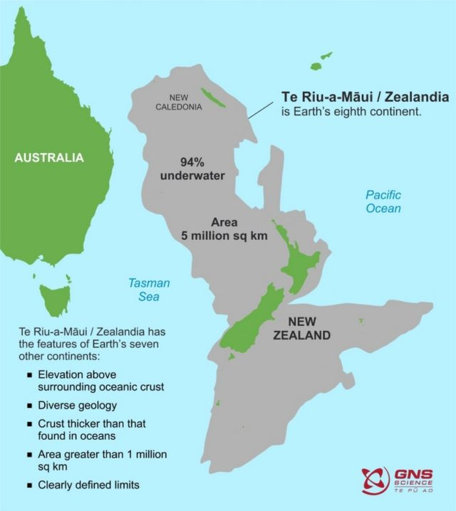 The True Size of Earth's 'Lost' 8th Continent Zealandia