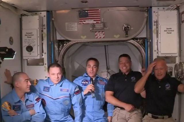 US Astronauts on historic mission enter Space Station