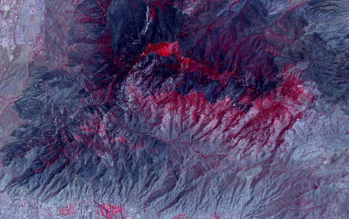 A Huge Forest Fire spotted from Space