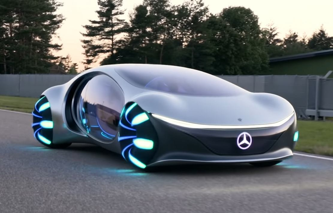Futuristic Mercedes Drives Sideways