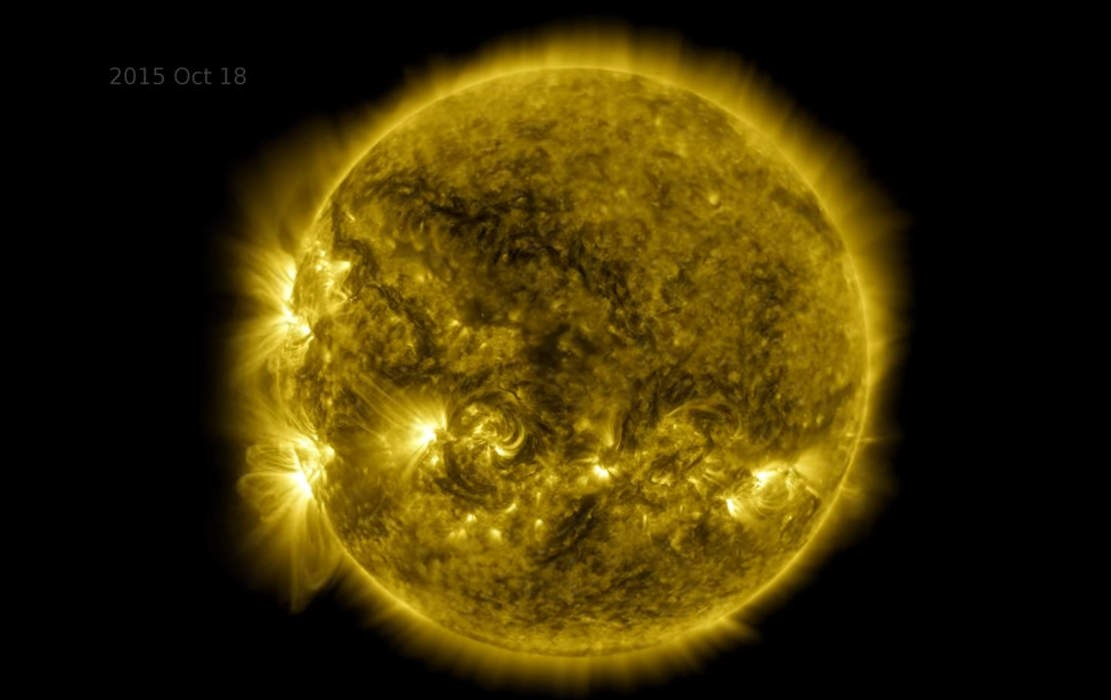 Incredible 10-year time lapse of the Sun