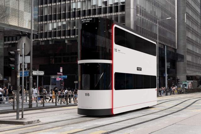 Island Double-Decker driverless tram concept