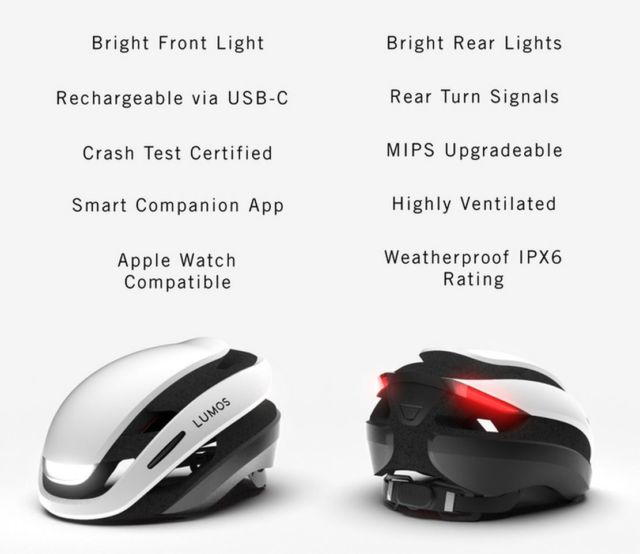 Lumos Ultra LED light bike Helmet (3)