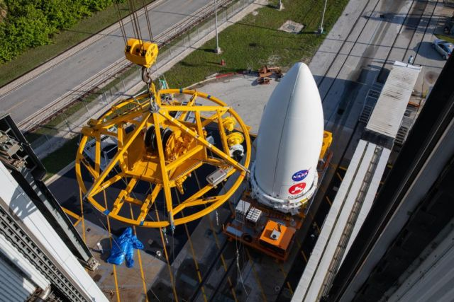 Perseverance Mars Rover attached to Atlas V Rocket