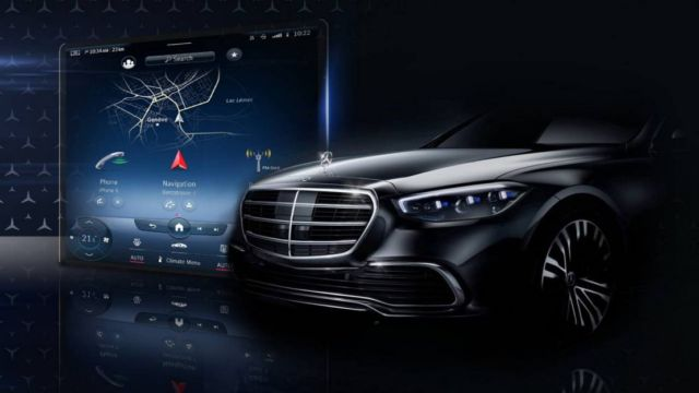 The Augmented Reality Head-up Display in New Mercedes S-Class (2)