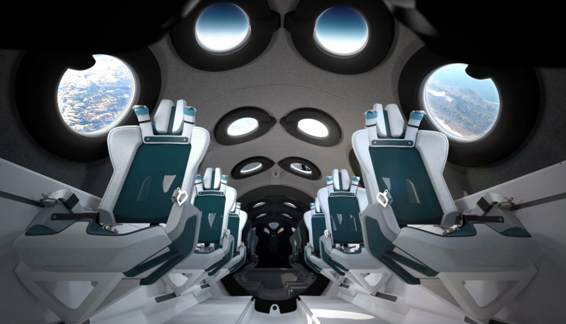 Virgin Galactic Spaceship Cabin design reveal