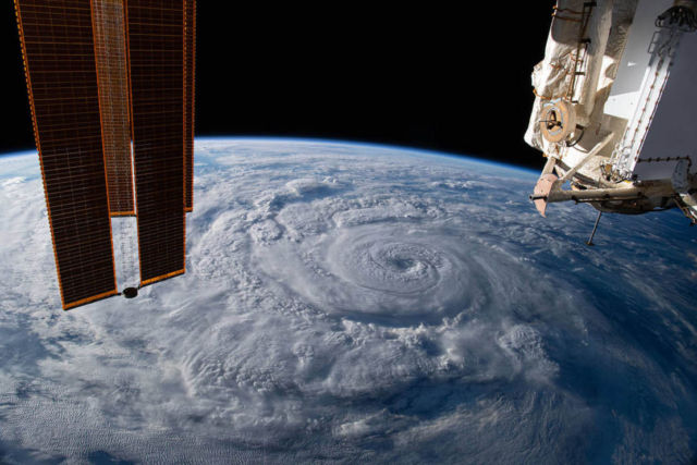 Hurricane Genevieve from Space Station