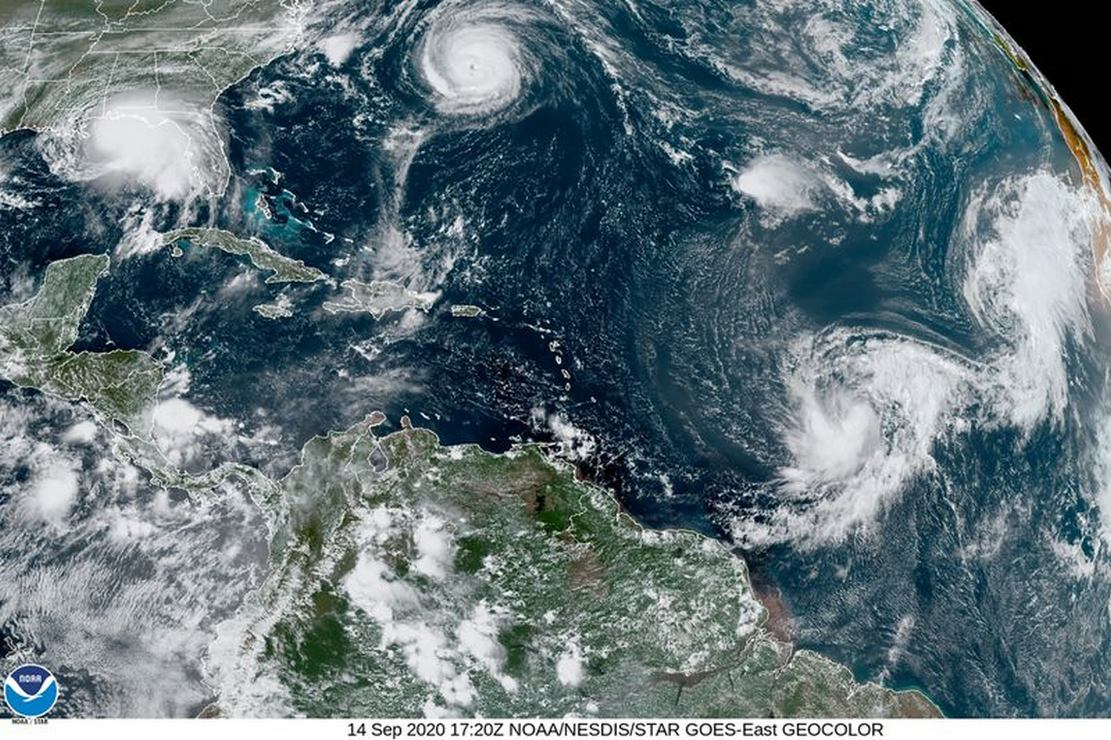 5 Cyclones across the Atlantic Ocean