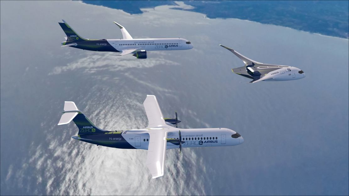 Airbus unveils ZEROe Hydrogen-powered aircraft