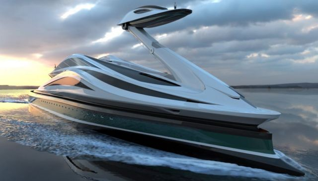 Avanguardia swan shaped mega yacht (16)