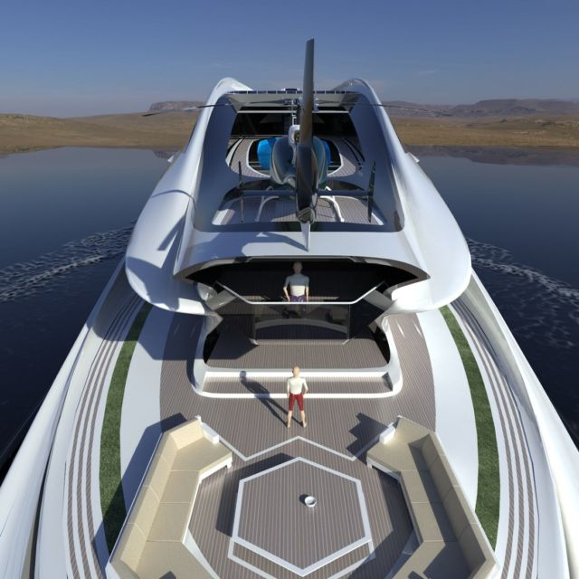 Avanguardia swan shaped mega yacht (7)