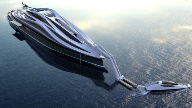 Avanguardia swan shaped mega yacht (6)