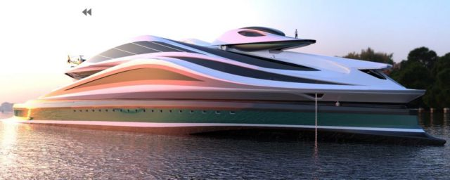 Avanguardia swan shaped mega yacht (4)